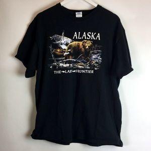 Rare Delta Alaska Graphic Tee T Shirt XL Black